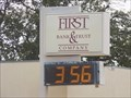 Image for First Bank and Trust Time/Temp - Covington, OK