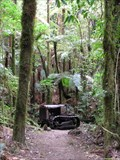 Image for Old Crawler Tractor. Pureora Forest. New Zealand.