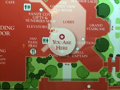 Grand Floridian Map (Lower Lobby) - Lake Buena Vista, FL - 'You Are on wyndham bonnet creek map, sheraton vistana map, universal studios map, typhoon lagoon map, travel map, red rock hotel map, old key west map, world showcase map, french quarter map, islands of adventure map, bay lake tower map, marriott grand vista map, cape canaveral map, all star sports map, pop century map, hollywood studios map, wilderness lodge map, grand californian hotel map, fort wilderness map, country inn and suites map,