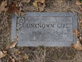 Image for Unknown Girl - Cottonwood Cemetery - Cottonwood, TX