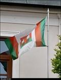 Image for Doksy - municipal flag on Municipal Office / Mestská vlajka na mestském úrade (North Bohemia)