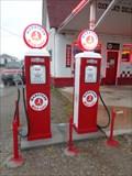 Image for Marathon Gas Pumps - Commerce, Oklahoma, USA.