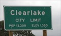 Image for Clearlake, CA - Pop: 13300