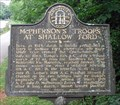 Image for McPherson's Troops at Shallow Ford - GHM 060-6 - Roswell, Fulton Co. GA