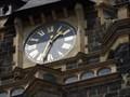 Image for Town clock Verwaltungsgebäude - Wuppertal, NRW, Germany