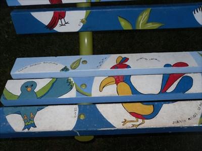 Oiseaux peint de belle couleurs.Painted birds beautiful colors.