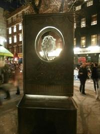 Agatha Christie Memorial - Cranbourn Street, London