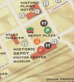 Downtown Map Depot Plaza Cheyenne WY You Are Here Maps on