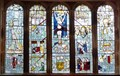 Image for Stained Glass, St Anthony's Chapel, Cartmel Fell, Cumbria, UK