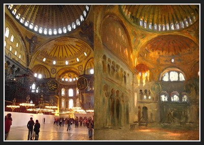 hagia sophia interior of the hagia sophia istanbul