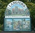 Image for Village Sign, Langford, Beds, UK