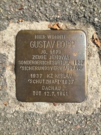 Gustav Bopp Stolpersteine, Heidelberg, Germany