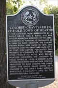 Image for Colored Graveyard in the Old Town of Hearne