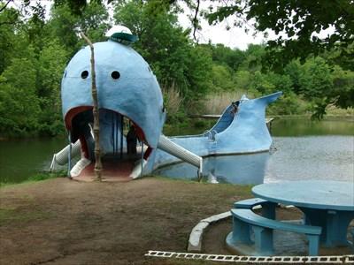 Blue Whale - Satellite Oddity - Catoosa, Oklahoma, USA.