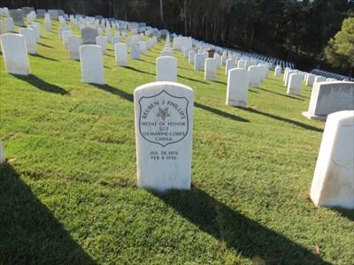 Reuben Jasper Phillips Stone Setting, San Francisco National Cemetery