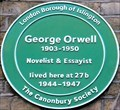 Image for George Orwell - Canonbury Square, London, UK