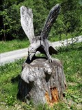 Image for Wooden Carving Eagle - Tobias, Kempter Wald, BY, Germany