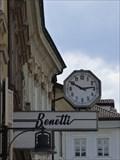 Image for Town clock Via della Mostra - Bozen, Trentino-Alto Adige, Italy