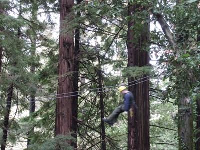 Zip Liner 1, Mt. Hermon, CA