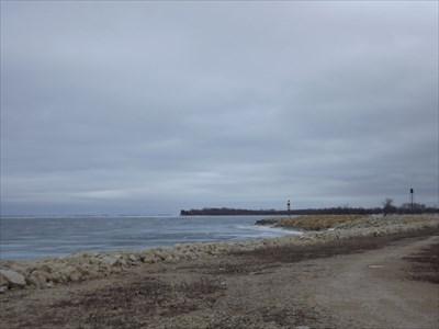 looking southward toward the Winnipeg Beach town