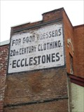 "Image for Ghost Signs - ""Ecclestones - For Good Dressers. 20th Century Clothing."""