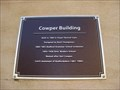 Image for Cowper Building Plaque - St Paul's Square, Bedford, Bedfordshire, UK