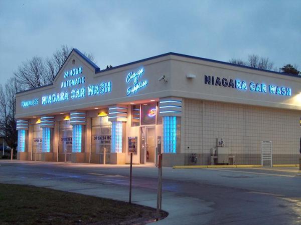 Niagara car wash with the neon lit up category coin operated self service car washeswaymark niagara car wash cicero new york solutioingenieria Gallery