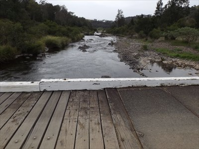 The Manning River would flood over this at times.