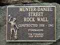 Image for Munter-Daniel Street Rock Wall - 1938-1941 - Trail, BC