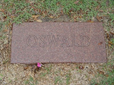 The Grave of Lee Harvey Oswald at the Rose Hill Cemetery in Fort Worth, Texas