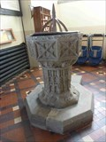 Image for Stone Font, St John the Baptist, Crowle, Worcestershire, England
