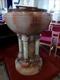 Image for Marble Font - St Davids Church - Merthyr Tydfil, Wales, Great Britain.