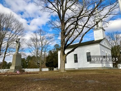 A gift from Benjamin T. Owen, the monument sits on land donated by the Congregational Society of North Scituate and perpetually maintained by the Town of Scituate.
