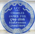 Image for Charles James Fox - Clarges Street, London, UK