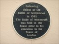 Image for Dark Blue historic plaque, Ringwood, Hants UK