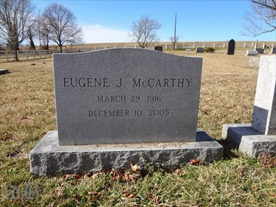 McCarthy was born in MN, but he spent his later years in Rappahannock County, VA where he is buried.