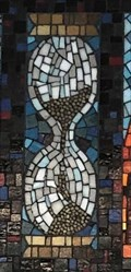 Image for Stained Glass Hourglass - Moorhead, MN