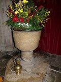 Image for Medieval font - Penmark Parish Church - Vale of Glamorgan, Wales. Great Britain.