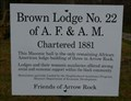 Image for Brown Lodge No 22 of the A.F. & A.M. - Arrow Rock MO