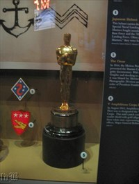 The Oscar the Marine Corps received in 1945 is on display in the USMC museum.