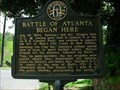 Image for Battle of Atlanta Began Here-GHM 044-46-DeKalb Co