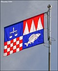 Image for Ostrava-Jih - municipal flag at the Town Hall (Ostrava, North Moravia)