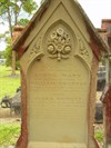 Sacred, to the memory of Sabina Mary, the Beloved wife of William Edgtton who departed this life February 3, 1884, aged 26 years, Also, Clara Bridget, beloved child of the above, Died Feb 3, 1884, aged 7 months