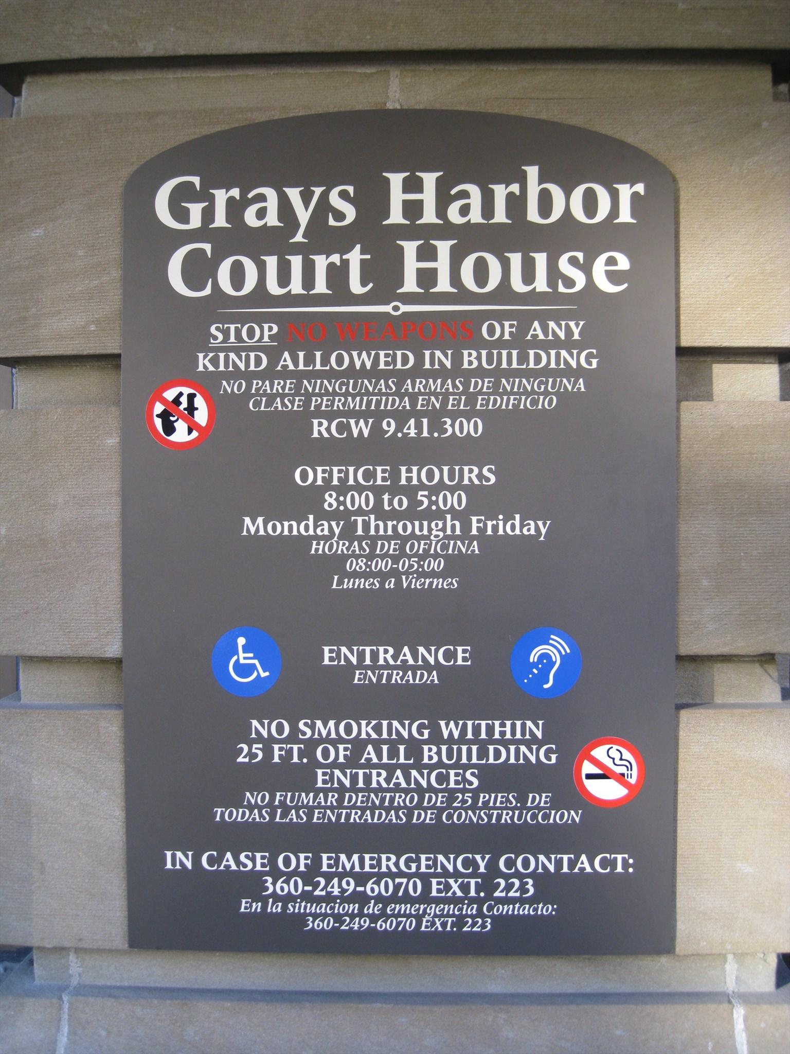 Grays Harbor County Courthouse - Montesano, Washington