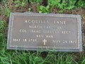 Image for Aquilla Lane - Col. Isaac Shelby's NC Reg - Whiteburg, TN