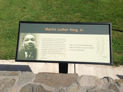 Martin Luther King in the Nobel Peace Park, Eugene, Oregon