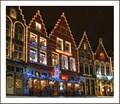 Image for Chrismas displays market square Bruges-Belgium
