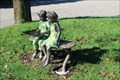 Image for Children Reading on a Bench - Canton Public Library - Canton, MA