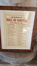 Image for Roll of Honour - St Peter & St Paul - Exton, Rutland