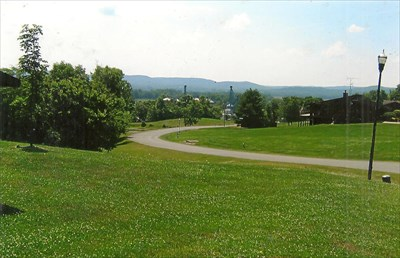 of the valley and town from the residential area